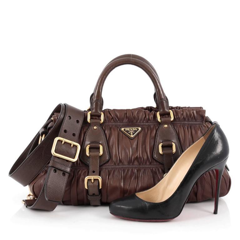 Prada Gaufre Convertible Satchel Nappa Leather Medium at ...