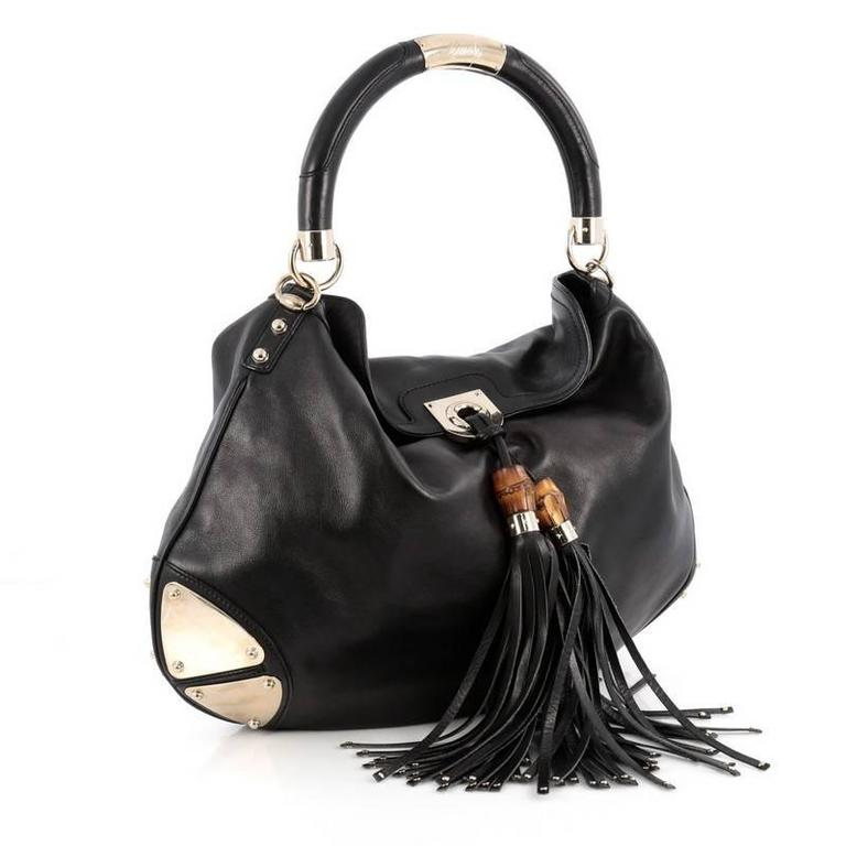 3575223fb Black Gucci Indy Hobo Leather Large For Sale