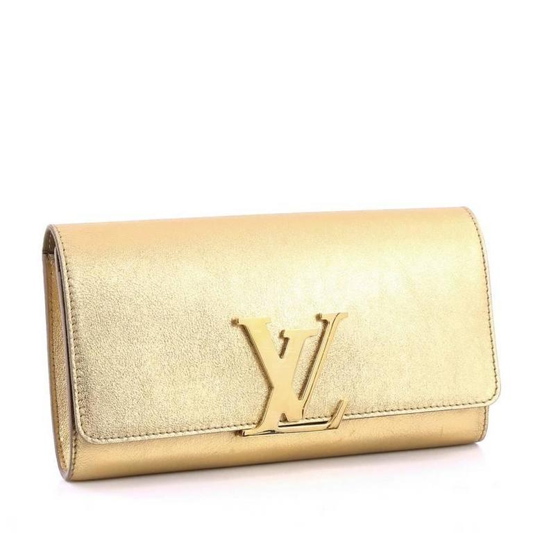 Louis Vuitton Louise Clutch Leather Long at 1stdibs