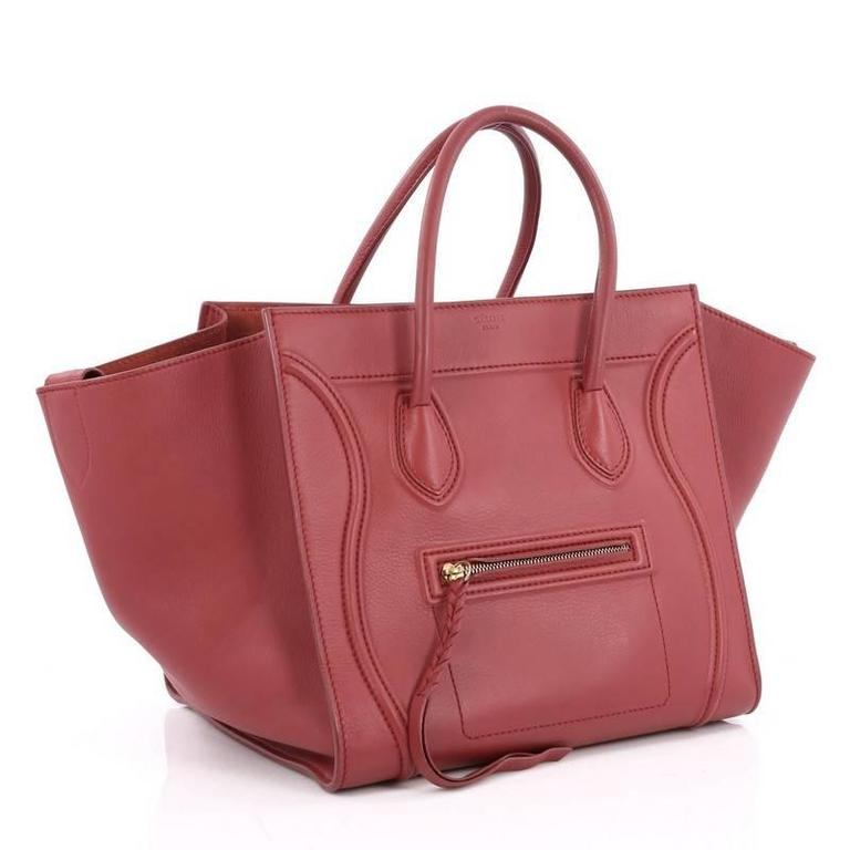Celine Phantom Handbag Grainy Leather Medium In Good Condition For Sale In New York, NY