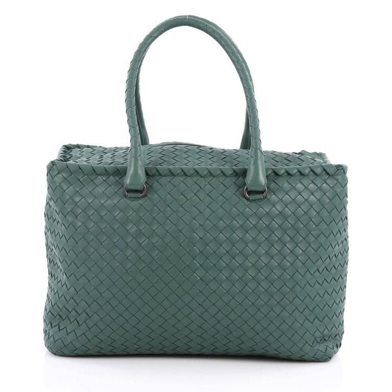 Bottega Veneta Brick Bag Intrecciato Nappa Medium In Good Condition For Sale In New York, NY