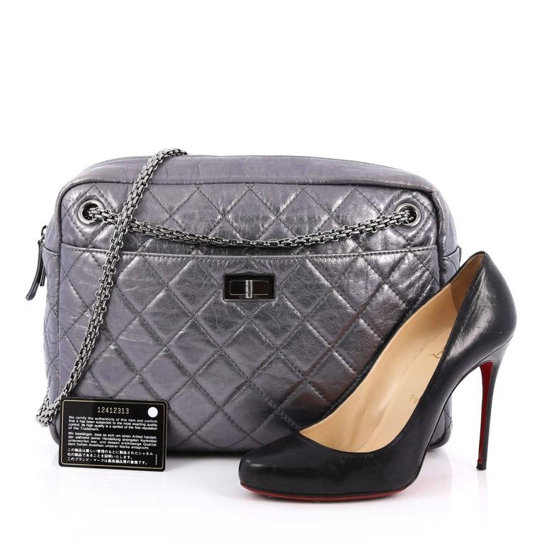 537265040487 This authentic Chanel Reissue Camera Bag Quilted Aged Calfskin Large is a  timeless and iconic piece