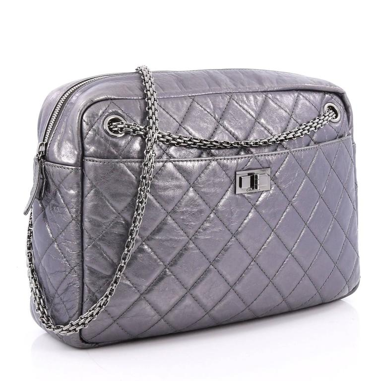 b60b27943c8f32 Gray Chanel Reissue Camera Bag Quilted Aged Calfskin Large For Sale
