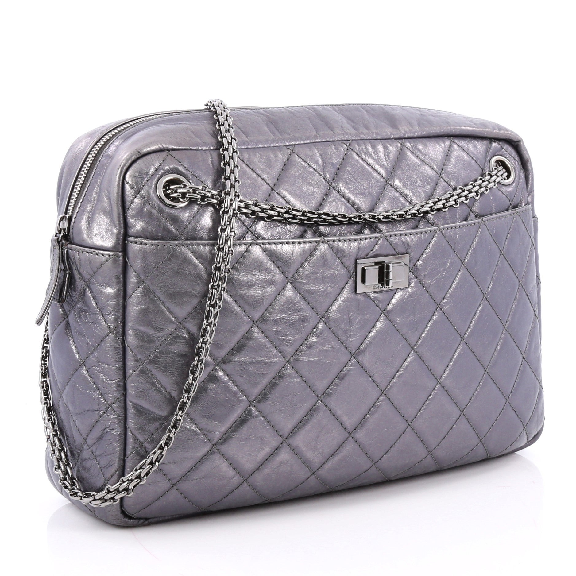 8784ada45dd5 Chanel Reissue Camera Bag Quilted Aged Calfskin Large at 1stdibs
