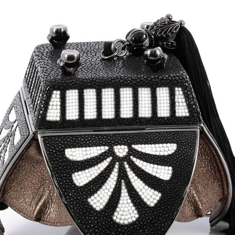 Judith Leiber Limited Edition Jewelry Box Minaudiere Stingray and Crystal For Sale 3