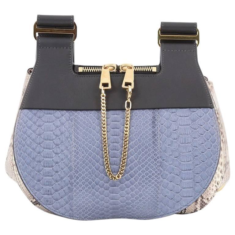 Chloe Drew Messenger Bag Python Medium