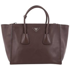 Prada Twin Pocket Tote City Calfskin Medium