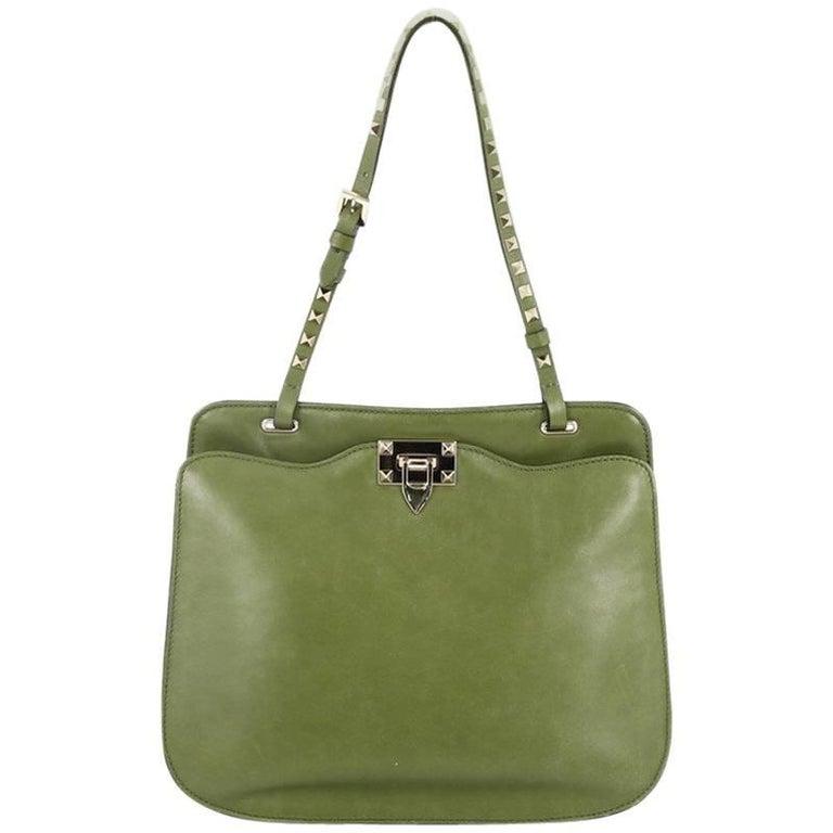 Valentino Rockstud Shoulder Bag Leather