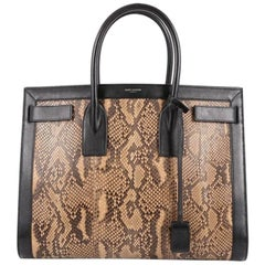 Saint Laurent Sac De Jour Handbag Python Medium