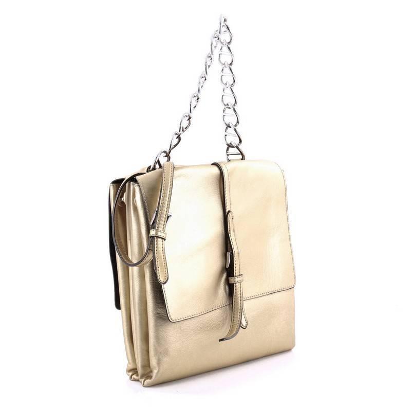 55b3066694 ... cheap beige prada double flap turn lock shoulder bag leather small for  sale 696fc adf83