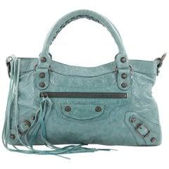 Balenciaga First Covered Classic Studs Handbag Leather