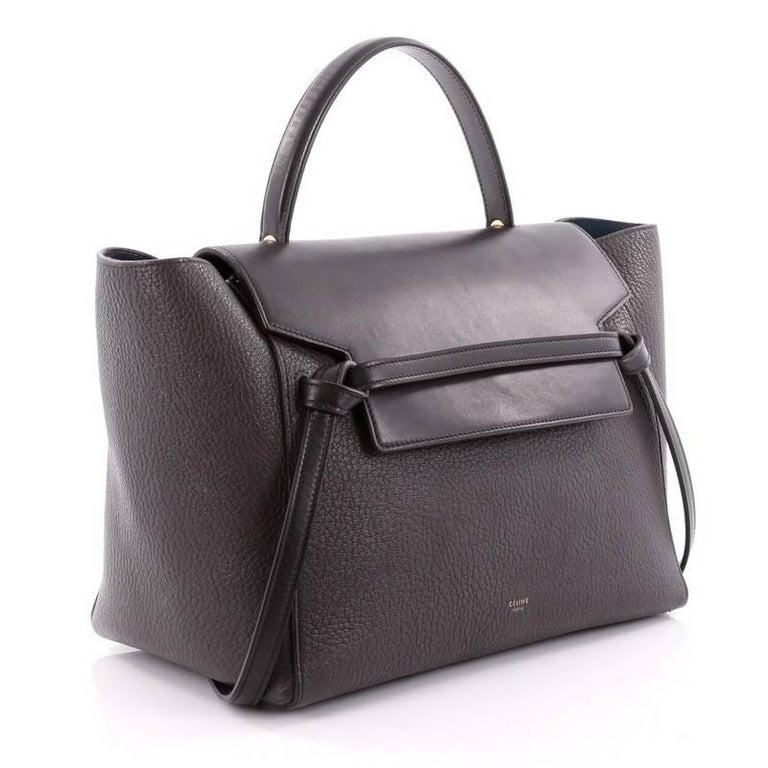Black Celine Belt Bag Pebbled Leather Mini For Sale 2536a7700415a