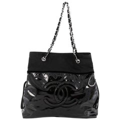 Chanel Stretch Spirit Drawstring Patent Vinyl Tote