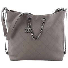 Chanel Messenger Medium Quilted Calfskin Strap Tote