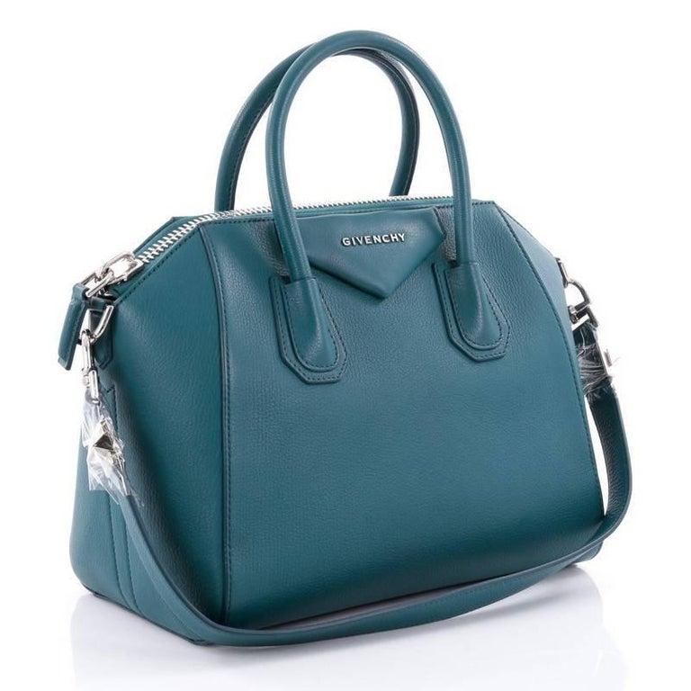 Blue Givenchy Antigona Bag Leather Small For Sale