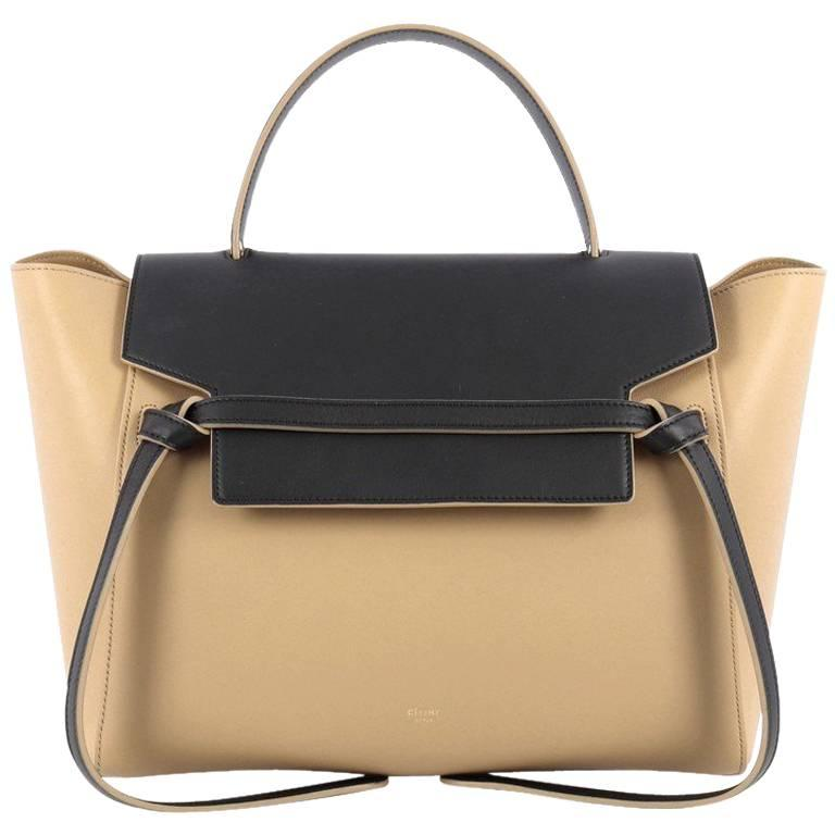 b287bf558f66 Celine Bicolor Belt Bag Leather Mini at 1stdibs