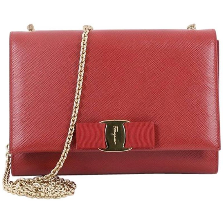 18fc3f52ae Salvatore Ferragamo Ginny Crossbody Bag Saffiano Leather Small For Sale