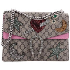 Gucci Dionysus Handbag Sequin Embellished GG Coated Canvas Medium