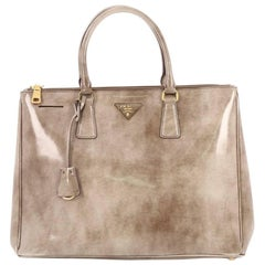 Prada Double Zip Lux Tote Spazzolato Leather Medium