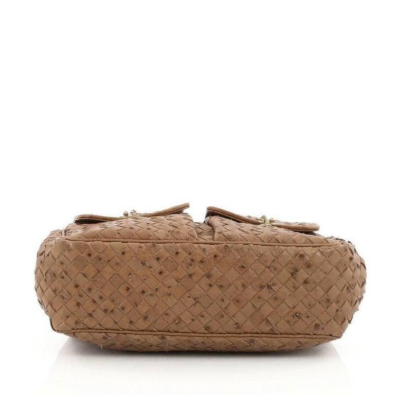 7cdad3424cf5 Women s or Men s Bottega Veneta Pocket Frame Shoulder Bag Intrecciato  Ostrich Medium For Sale