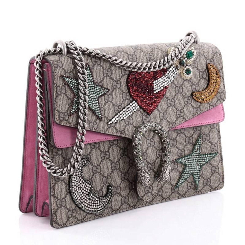 637240cebbda Gucci Dionysus Handbag Sequin Embellished GG Coated Canvas Medium at 1stdibs