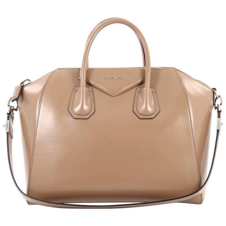 Givenchy Antigona Bag Glazed Leather Medium For Sale