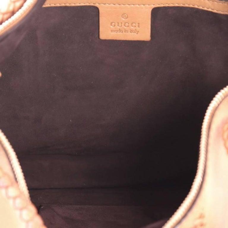 Gucci Handmade Shoulder Bag Leather Medium For Sale 2