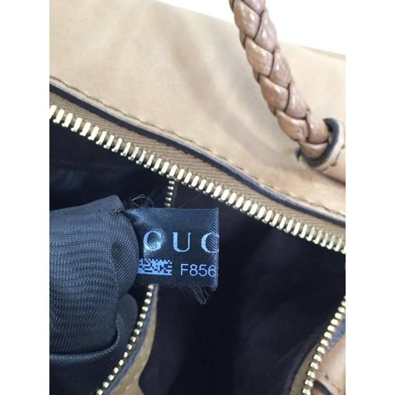 Gucci Handmade Shoulder Bag Leather Medium For Sale 4