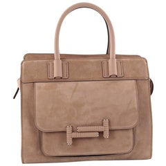 Tod's Double T Satchel Bag Suede Small