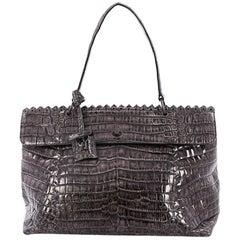 Bottega Veneta Tie-Dye Tiina Bag Crocodile Large