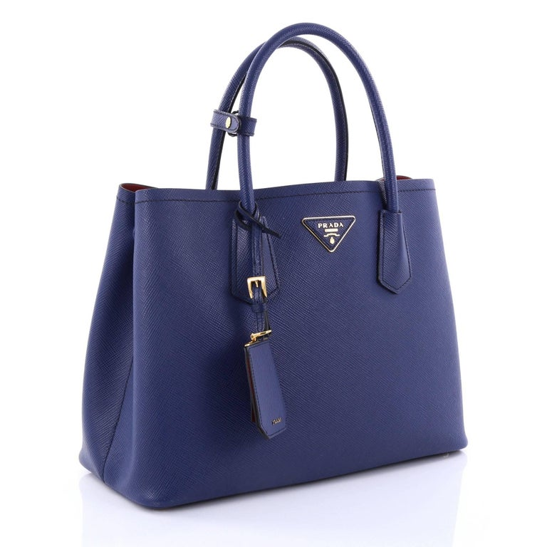 Prada Cuir Double Tote Saffiano Leather Medium at 1stdibs 31bfabac7e623