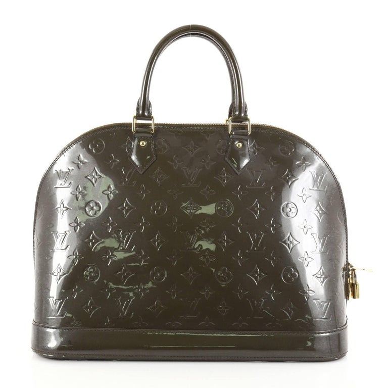 Louis Vuitton Alma Handbag Monogram Vernis Gm In Fair Condition For New York