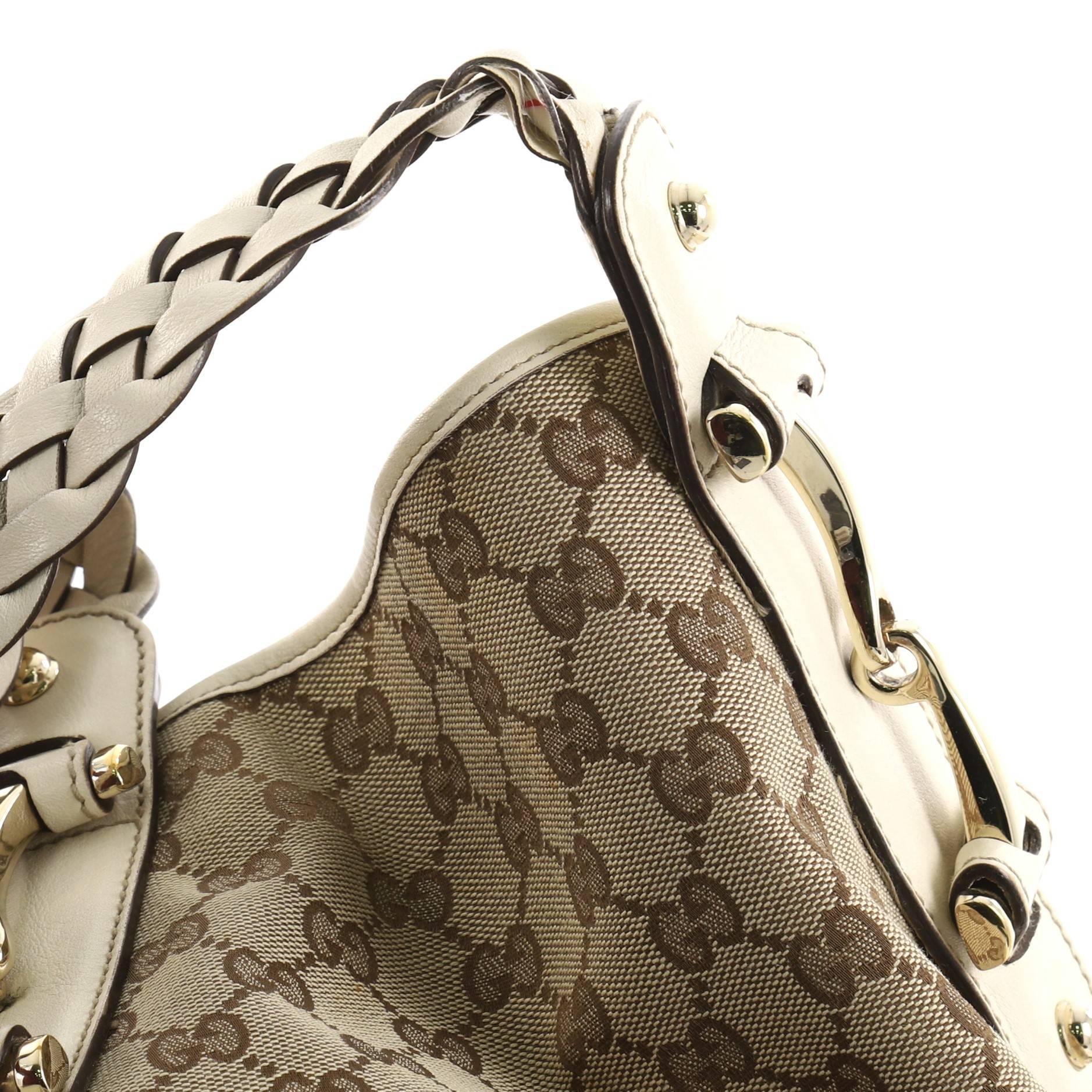 ba5c158a0b1 Gucci Pelham Shoulder Bag GG Canvas Small at 1stdibs
