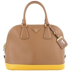Prada Bicolor Promenade Handbag Saffiano Leather Medium
