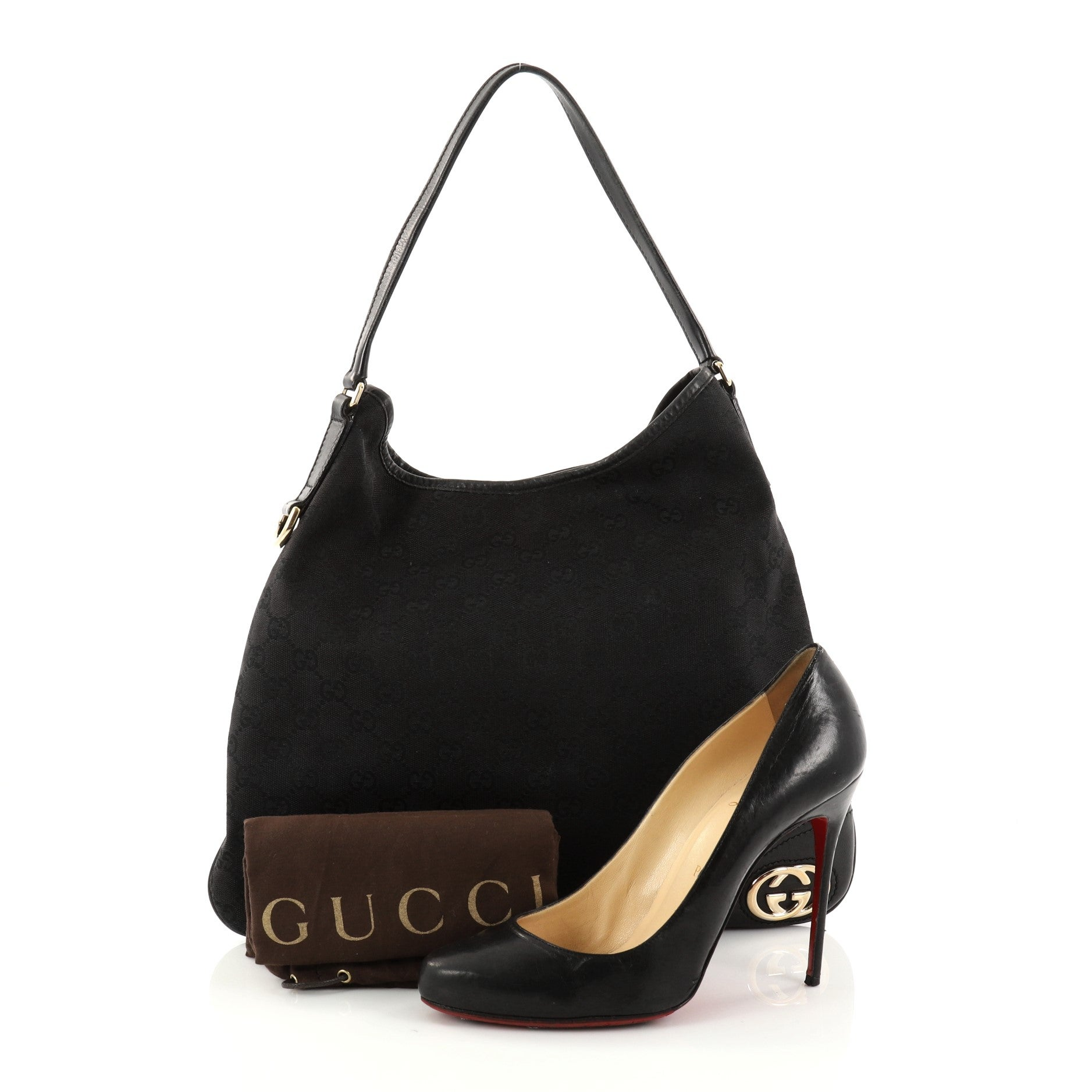 cfa362b8822 Gucci New Britt Hobo GG Canvas Medium at 1stdibs