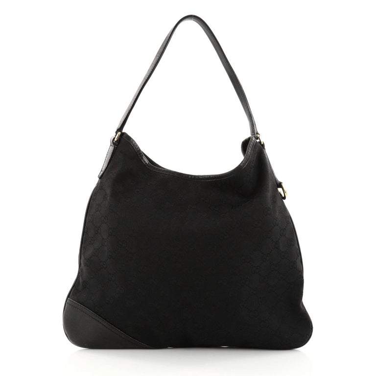 75aab40231f Gucci New Britt Hobo GG Canvas Medium In Fair Condition For Sale In New  York