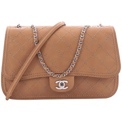 Chanel CC Flap Messenger Bag Quilted Calfskin Medium