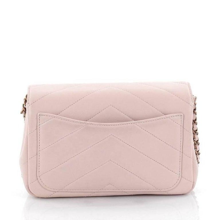 3fd00cd30db1 Women s Chanel Coco Envelope Flap Bag Chevron Leather Mini For Sale
