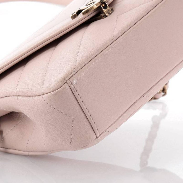 82aee2ca4fe4 Chanel Coco Envelope Flap Bag Chevron Leather Mini at 1stdibs