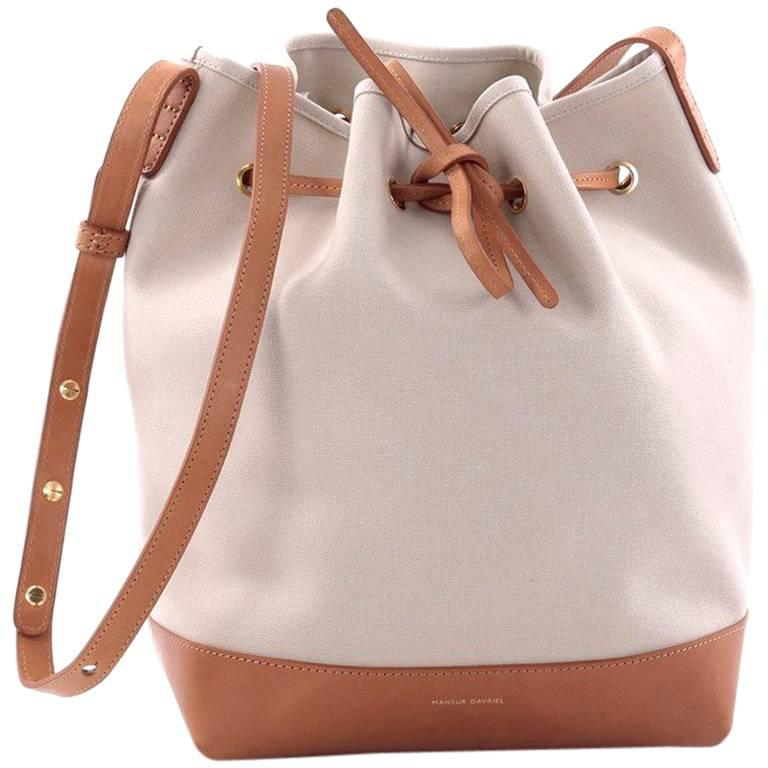 Mansur Gavriel Bucket Bag Canvas Large For
