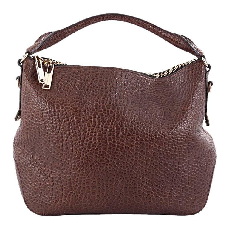 Burberry Ledbury Convertible Hobo Heritage Grained Leather Small
