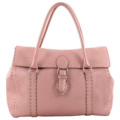 Fendi Linda Satchel Leather Large