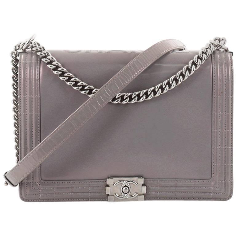 b8e3324759240a Chanel Reverso Large Glazed Calfskin Boy Flap Bag at 1stdibs