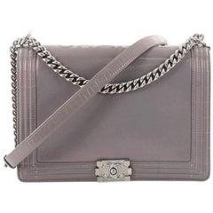 Chanel Reverso Large Glazed Calfskin Boy Flap Bag