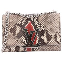 Louis Vuitton Chain Louise Clutch Python GM