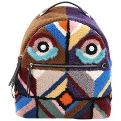 Fendi Bugs Backpack Multicolor Shearling with Fur