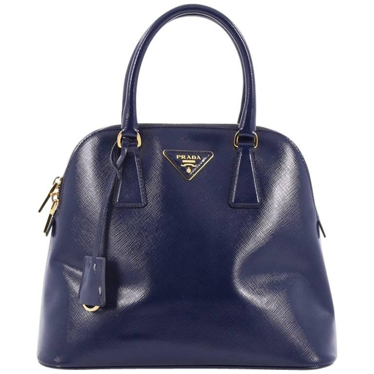 Prada Zip Around Convertible Dome Satchel Vernice Saffiano Leather North  For Sale