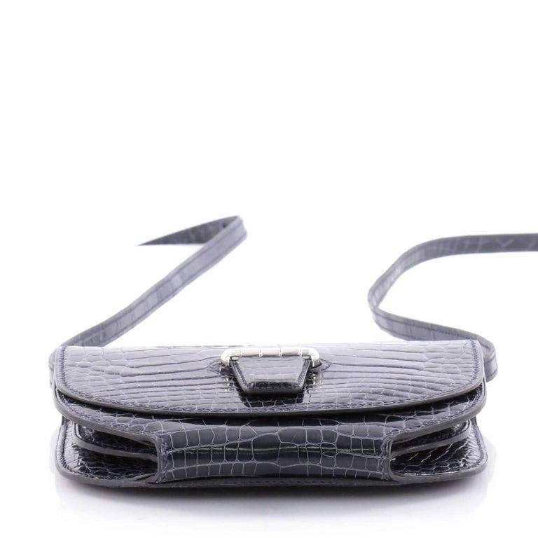 Women's or Men's Hermes Convoyeur Shiny Alligator Mini Crossbody Bag  For Sale