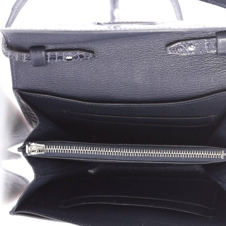 Hermes Convoyeur Shiny Alligator Mini Crossbody Bag  For Sale 1