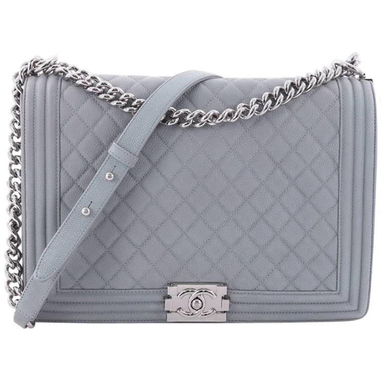 c06dc3f093c1 Chanel Boy Flap Bag Quilted Matte Caviar Large at 1stdibs